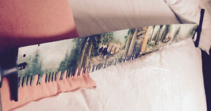 7 FT..2 MAN PAINTED AUTHENTIC CROSS CUT SAW..SPECTACULAR