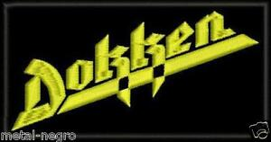 DOKKEN-EMBROIDERED-PATCH-CLASSIC-HEAVY-METAL-MOTLEY-CRUE-RATT-KISS-Metal-Negro