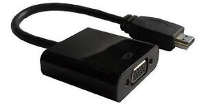 HDMI to VGA Adapter Converter Cable -  Male To Female With Built-in Chipset - Up to 1080p