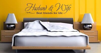 Husband and wife best friends for life vinyl wall decal quote decoration (Best Friends Wall)
