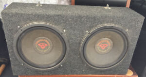 "Cerwin Vega Car Subwoofers 12"" x2 w/ Professional Enclosure Kit"