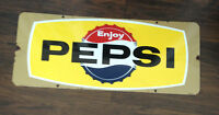 1960 PEPSI PORCELAIN SIGN !!!! SOLD !!! SHIPPED TO HALIFAX !!!!