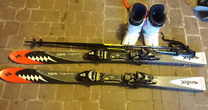 144 cm Blizzard Shark Skis with Boots & Poles