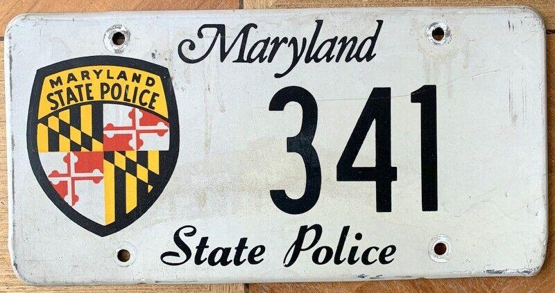 Nummernschild USA Kennzeichen MARYLAND State Police POLIZEI 341 SUPER SELTEN