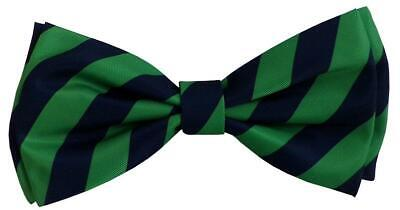 NEW Blue Green Striped Harvey Dog Bow Tie Collar Attachment by Huxley & Kent