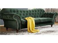 luxury chesterfield plush velvet Scirocco sofas 3+2 seater any colours