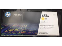 HP CE342A 651A YELLOW LASER TONER PRINT CARTRIDGE FOR ENTERPRISE 700 MFP M775