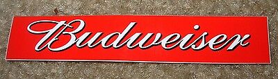 BUDWEISER Classic Red Banner Logo STICKER decal craft beer brewing