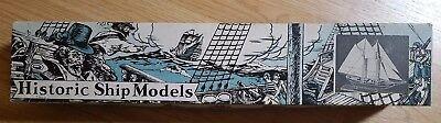 VINTAGE IDEAL MODELS SCHOONER BLUENOSE WOODEN MODEL KIT for sale  Shipping to India
