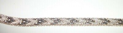 ITALY STERLING SILVER DIAMOND CUT CHEVRON DESIGN BRACELET 7 1/2