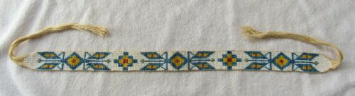 Sioux Indian Bead Beaded Beadwork Vintage Hat Band Route 66 Souvenir Wall Drugs