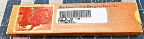 Box Of (12) Blackfeet Indian Drawing Pencils Military Issue 041-16 H [OFF]