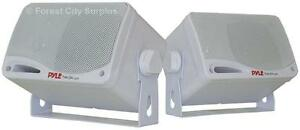New - PYLE BLUETOOTH OUTDOOR WATERPROOF SPEAKERS - Easy installation on Pool Deck or Patio without Wires!!