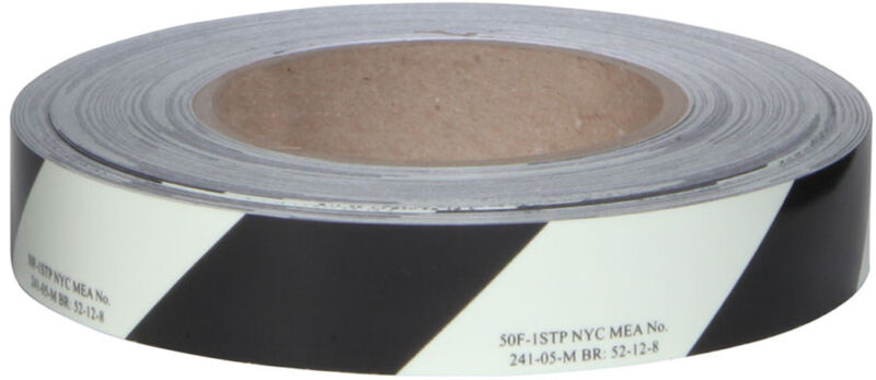NEW National Marker 50F-1STP 1 GLO BRITE FLEXIBLE TAPE WITH BLACK STRIPE