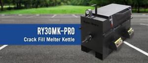 NEW RY30MKPRO RynoWorx 30 Gallon Kettle ASPHALT CRACK FILLER MELTER RYNO WORX Apply hot rubberized Kettle Sealing Sealer