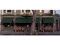 Waiter/Waitress/Bar staff required for busy Chiswick pub The Roebuck