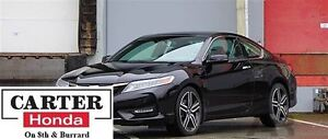 2016 Honda Accord TOURING + CERTIFIED 6YRS/120, 000kms + LOW FIN
