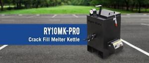 NEW RY10MKPRO RY 10 MK PRO Asphalt Crack Filling Sealing Kettle with Sealed Internal Burner Ryno Worx RynoWorx