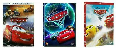 Cars 1, 2 & 3 Trilogy 1-3  (3-Disney DVD Combo) Brand New & Sealed