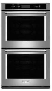 """KITCHENAID NEW KODE507ESS 27"""" DOUBLE, 4.3 CU FT.+4.3 CU FT,TRUE CONVECTION,SELF CLEAN,FIT SYSTEM,DOUBLE WALLOVEN(BD-1546"""