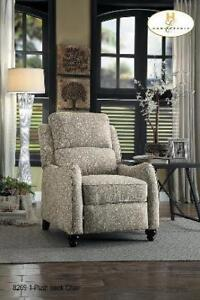 Push Back Recliner in Printed Fabric (BD-2430)