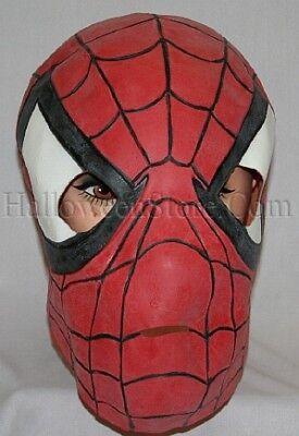Full Over The Head Latex Adult Spiderman - Latex Spiderman Mask