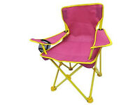 Trail Kids Pink Foldable Camping Chair with Carry Bag