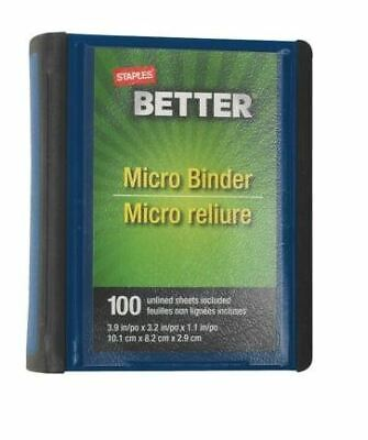 (12) Staples Better 1-Inch Round-Ring Micro View Binder Blue (26230)