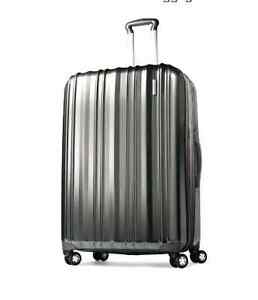NEW-Silver-Samsonite-28-Rolling-Upright-Suitcase-Hard-Shell-Case-Spinner-Wheels
