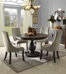 Round Pedestal Table with 4 Chairs(MA267)