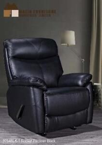 Black Recliner Chair in Real Leather on Sale (BD-2476)