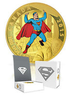2015 Royal Canadian Mint Superman Set, Gold + 3 Silver coins