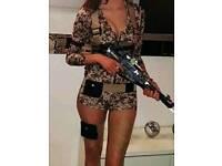 Battlefield babe fancy dress