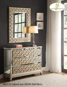 Champagne Accent Cabinet and Mirror (MA347)