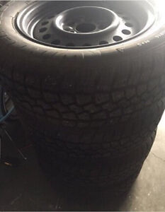 4 225/60R16 Winter Tires On 5-114.3mm Steel Rims