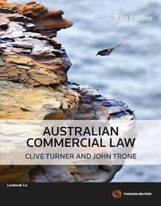 Australian Commercial Law 30th Ed Millner Darwin City Preview