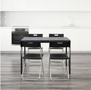 """IKEA """"TÄRENDÖ / GUNDE"""" black dining set"""