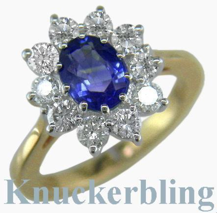 Sapphire And Diamond Engagement Rings For Sale