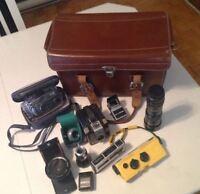 Une superbe collection de Caméras et de lentilles