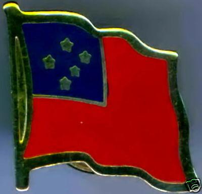 ((Western) Samoa Flag Lapel / Hat Pin NEW)
