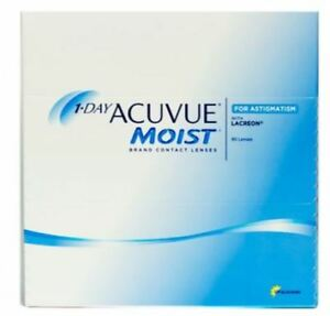 Contact Lenses 1 Day Acuvue Moist for Astigmatism 90 Pack