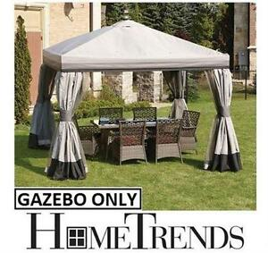 NEW HOMETRENDS VALENCE GAZEBO 10' Outdoor Living Patio Gazebos Canopies FURNITURE HOME GARDEN PATIO SHADE