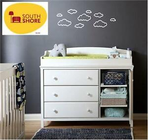NEW* SOUTH SHORE CHANGING TABLE WHITE -  Baby Furniture, Bedding NURSERY