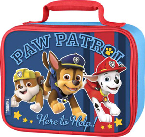 Thermos lunch bag with tags Paw patrol and Minions