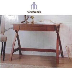 NEW HOMETRENDS X LEG DESK HOME OFFICE - CHERRY WOOD FINISH - 104670245