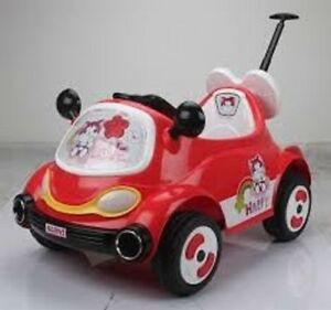 12V Child Ride On Car with Push Bar, Remote Controller, Music, m