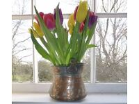 BRASS FLOWER POT, SILK FLOWER POT OR DECORATIVE POT