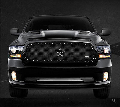 RBP RX-5 2013-2014 Dodge Ram 1500 Black Stainless Steel Frame Mesh Grille Grill