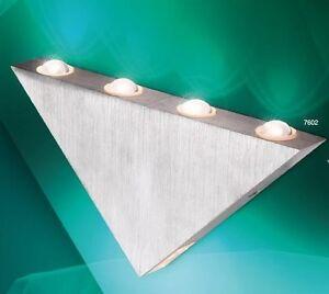 applique led design triangulaire lampe murale lampe de couloir aluminium 58118 ebay. Black Bedroom Furniture Sets. Home Design Ideas