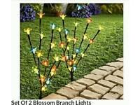2 Led light blossom trees